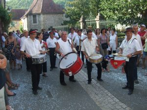 Drummers in the Daglan parade
