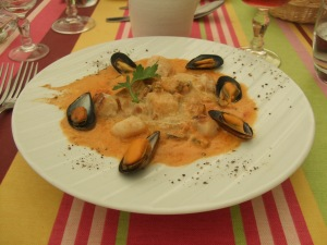 Mussel-and-scallop risotto