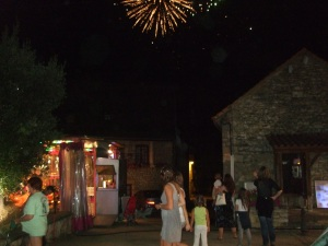 Fireworks in the sky over Daglan