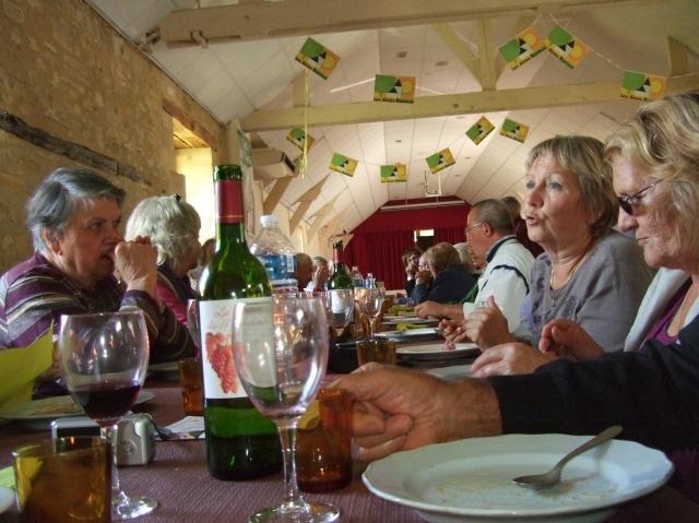A table at the salle des fetes, Daglan