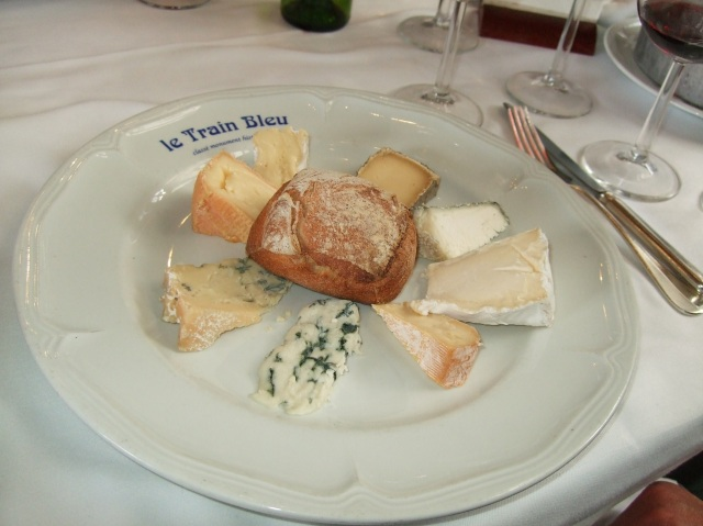 A plate of cheese