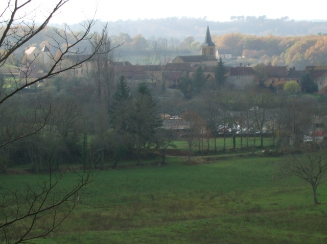 View of the village of Campagnac, France