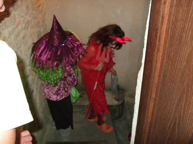 Halloween visitors in Daglan, France