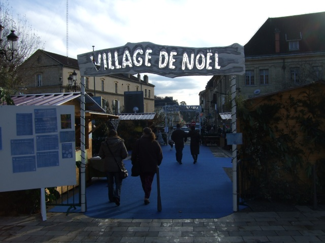 Entrance to Sarlat's Christmas Village.