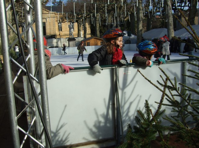Kids skating in Sarlat, France