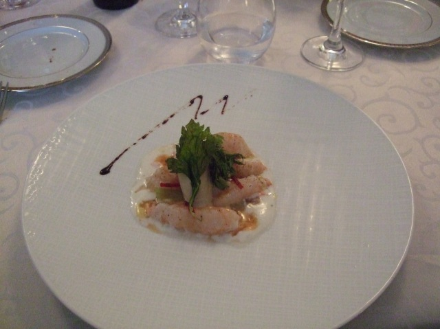 Appetizer of langoustines