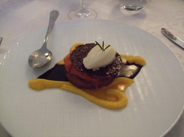 Dessert at Le Grand Bleu