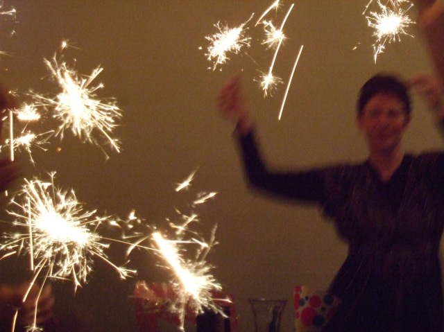 Sparklers in action