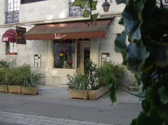 Restaurant exterior.