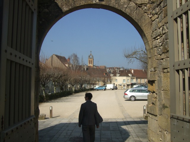Leaving the chateau