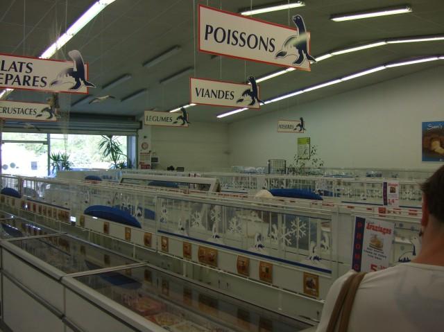 Inside store.