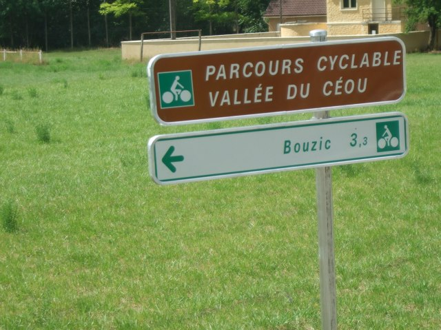 Sign for bike path