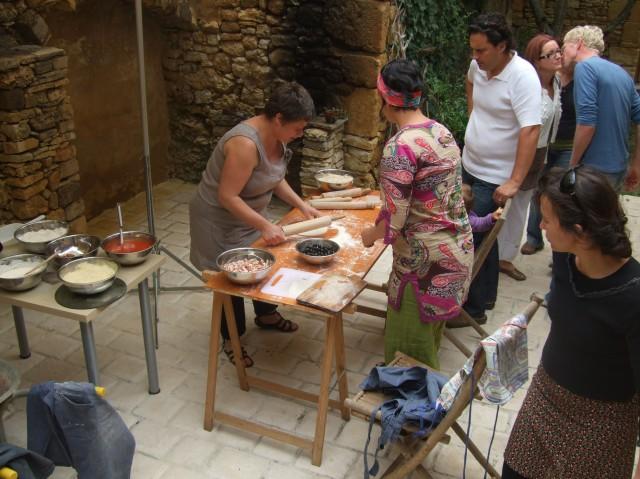 Pizza-making