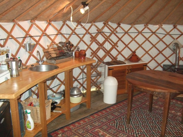 Yurt kitchen
