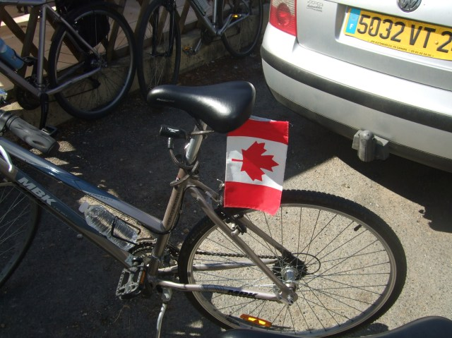Flag on bike