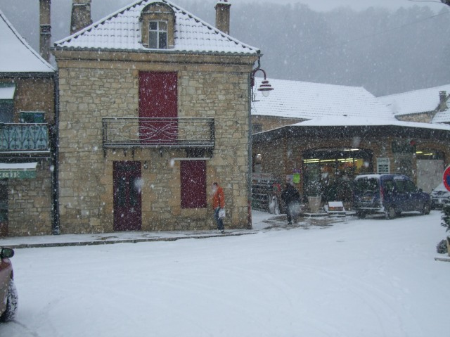 Store in snow
