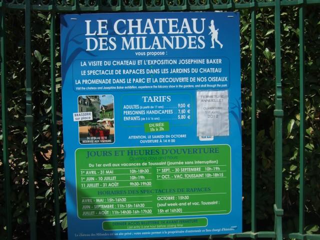 Sign for Milandes