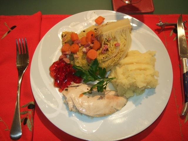 Guinea fowl lunch