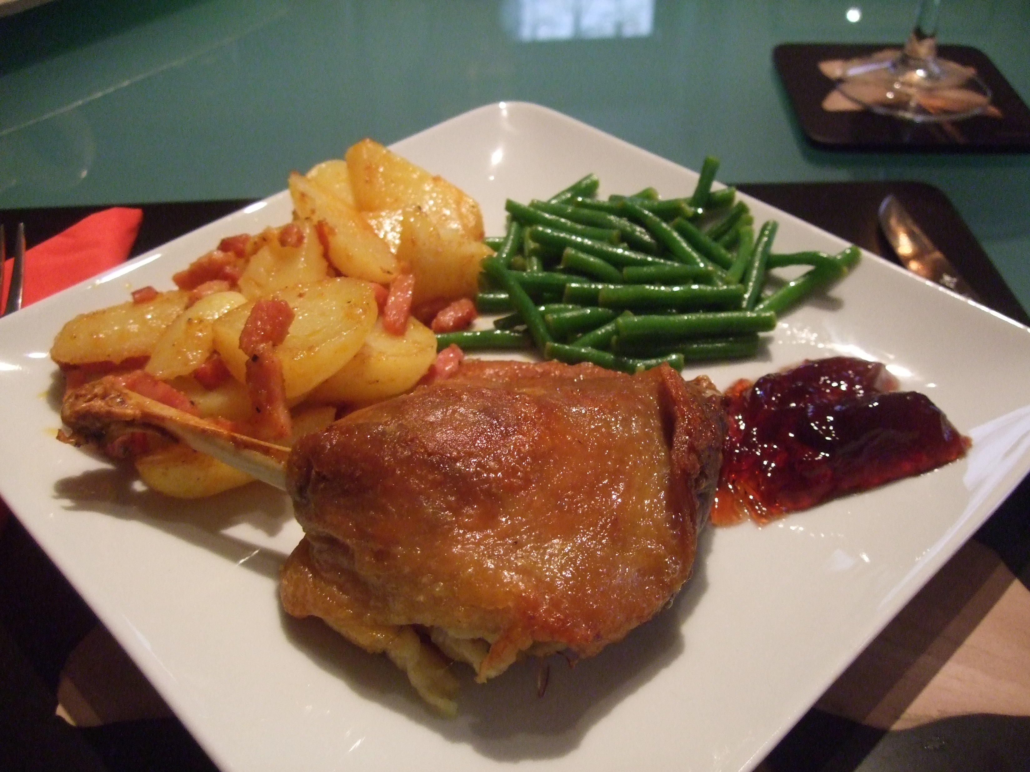 This is how confit de canard should look.