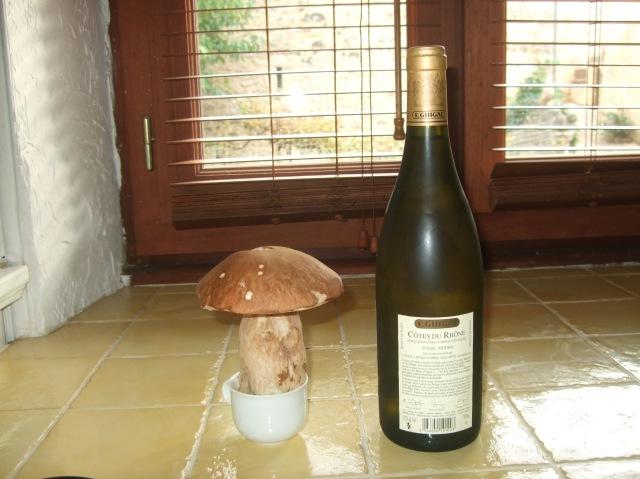 Mushroom & bottle