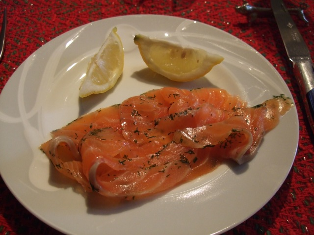 Mild and delicious cured salmon.