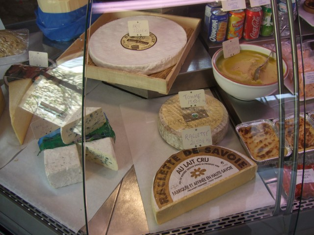 A nice array of French cheeses.