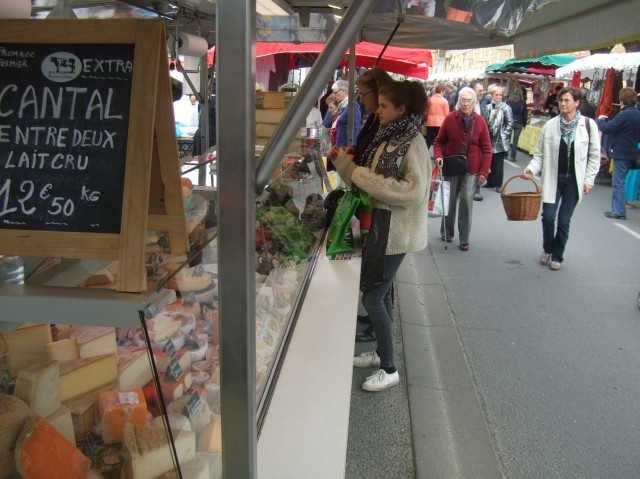 It wouldn't be a French market without a lot -- I mean a lot -- of cheese.