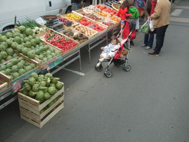 One of the many vegetable stalls -- some huge, some small.