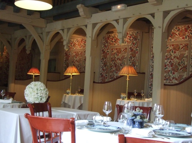 The main dining room at Trémolat's Le Vieux Logis.