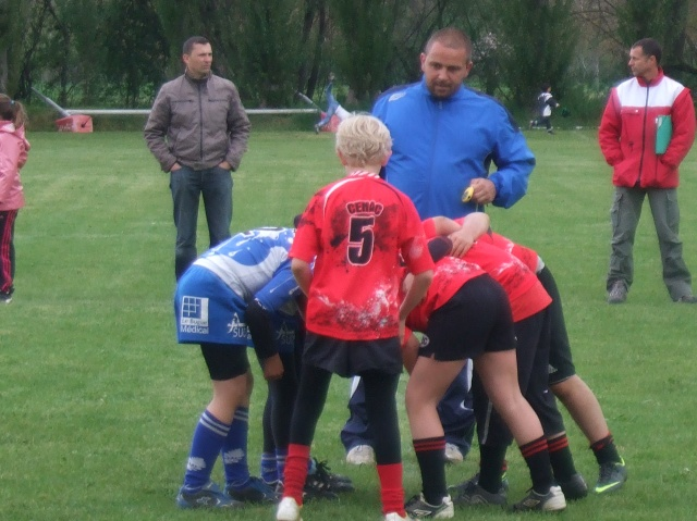A classic rugby scrum starts up the action again.