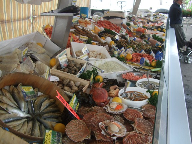The seafood stall is one of our favourites.