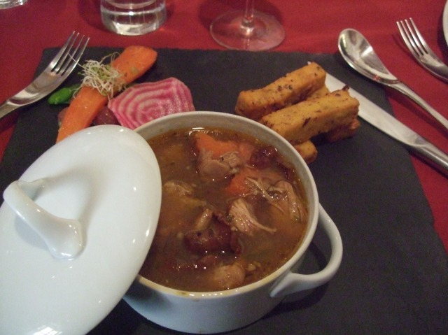 The stew was delicious, but I loved the polenta more!