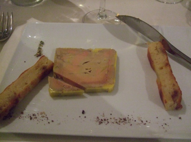A silky smooth foie gras to begin.