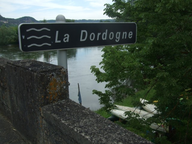 The view just as I started crossing the Dordogne.