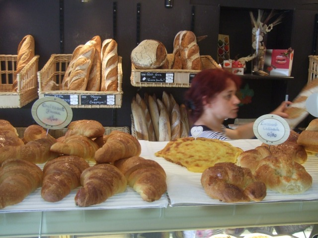 A good-looking selection of pastries and breads.