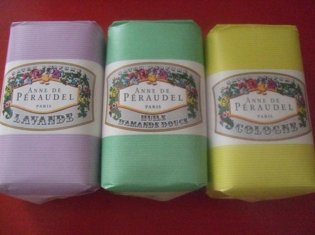 Three soaps, three scents.