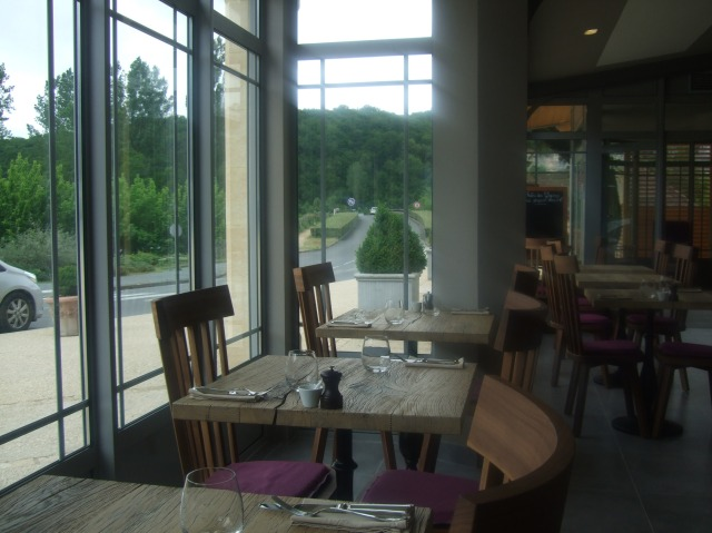 The view from our table in the bistro.