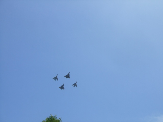 These were among the many sets of jets that flew over us.