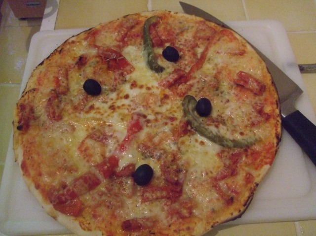 My pizza, at home.