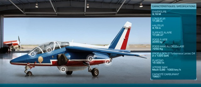 One of the jets of France's Patrouille.