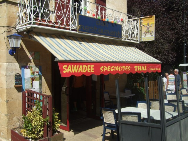 The front entrance to Sawadee.