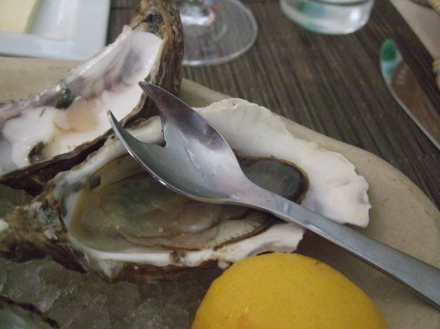 A spork for our oysters.