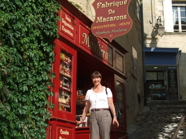 Outside a specialty store in Saint-Émilion.