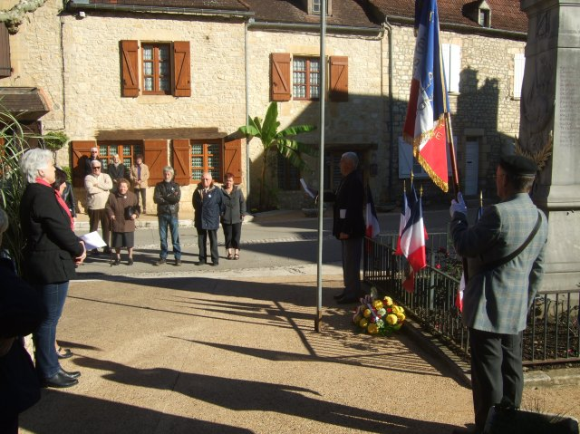 """Reading the names of those who died """"pour la France."""""""