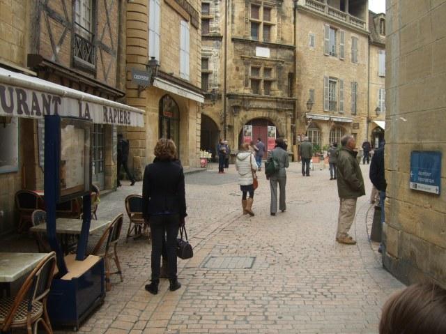 Just keep following the main street.