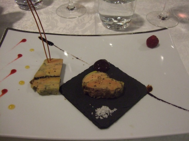 My entrée was a seriously delicious terrine of foie gras.