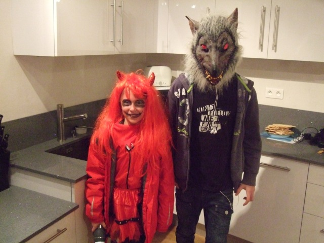 Two of the three trick-or-treaters who visited us.