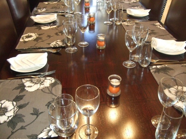 The dining table for our Christmas Day lunch.