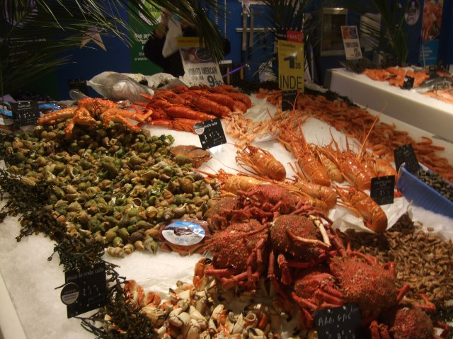 Lobsters and a whole lot of other seafood goodies.