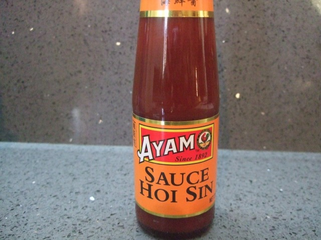 Our bottle of sauce.